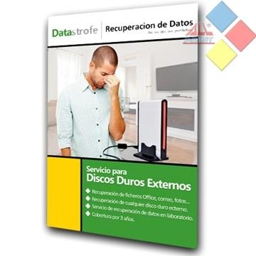 SERVICIO RECUPERACION DE DATOS PARA 1 DISCO DURO EXTERNO 3 AÑOS DATASTROFE