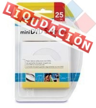 SOBRE PARA MINI CD/DVD DE 8CM MEMOREX PACK 25 ***LIQUIDACION***
