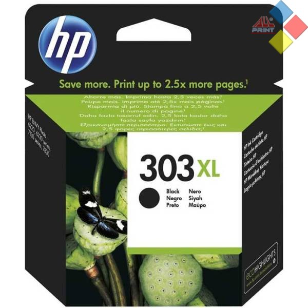 T6N04AE - HP Nº303XL  NEGRO ENVY PHOTO 62220 / 6230 / 6632 / 7830 / 7130 7134 600 PAG.