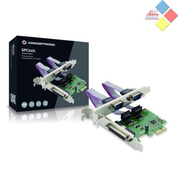 TARJETA PCI EXPRESS 2 PUERTO SERIE + 1 PARALELO CONCEPTRONIC SPC01G