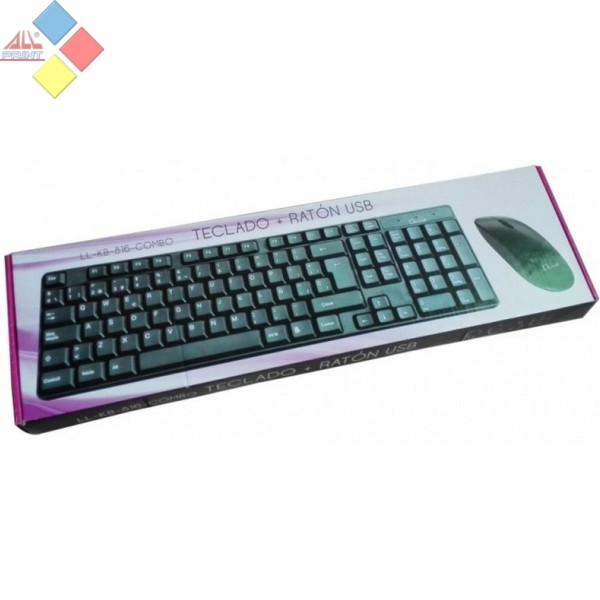 TECLADO + RATON L-LINK KB-816 USB NEGRO