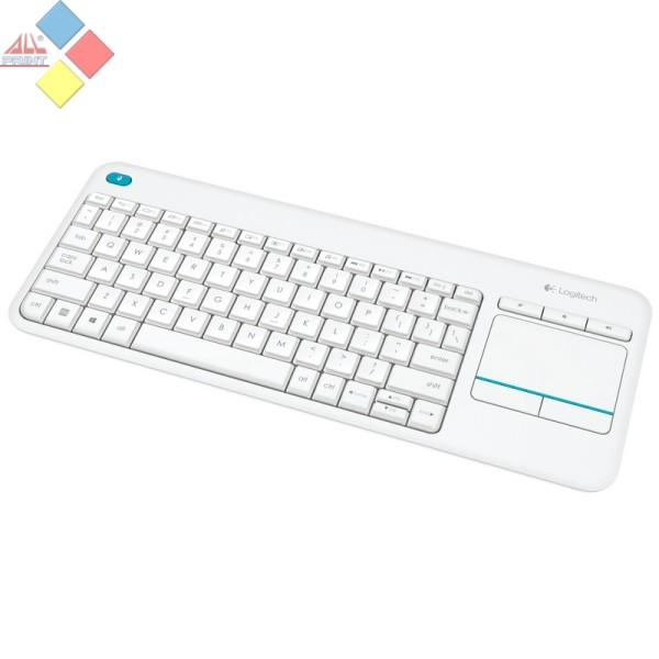TECLADO LOGITECH WIRELESS TOUCH KEYBOARD K400 PLUS USB BLANCO
