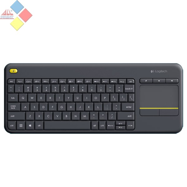 TECLADO LOGITECH WIRELESS TOUCH KEYBOARD K400 PLUS USB NEGRO