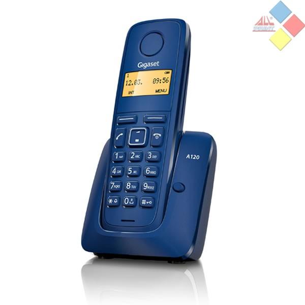 TELEFONO INALAMBRICO DECT GIGASET A120  ECO DECT / ID. LLAMADA / AGENDA 50 REG. AZUL