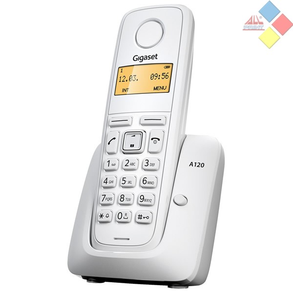TELEFONO INALAMBRICO DECT GIGASET A120  ECO DECT / ID. LLAMADA / AGENDA 50 REG. BLANCO