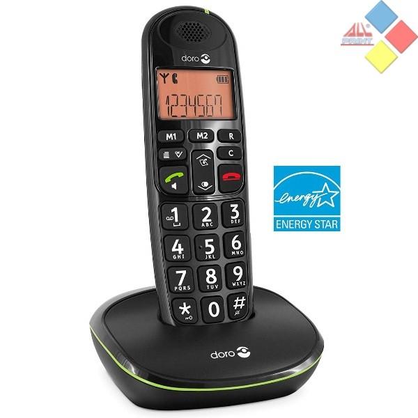 TELEFONO INALAMBRICO OCASION DORO PHONE EASY DECT / ID. LLAMADA / MANOS LIBRES NEGRO  *COMO NUEVO*