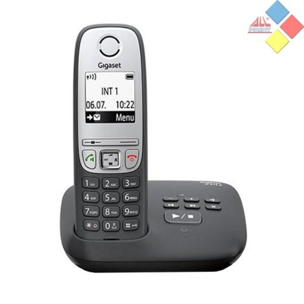 TELEFONO INALAMBRICO OCASION GIGASET A415A DECT / ID. LLAMADA / MANOS LIBRES / CONTESTADOR NEGRO *COMO NUEVO* SIN PILAS