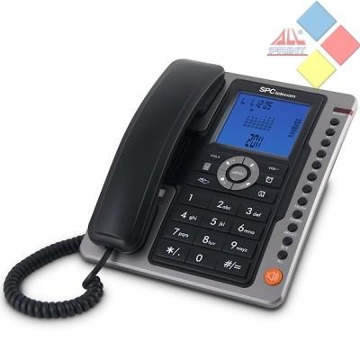TELEFONO SOBREMESA SPC TELECOM 3604N MANOS LIBRES IDENTIFICADOR DE LLAMADAS NEGRO