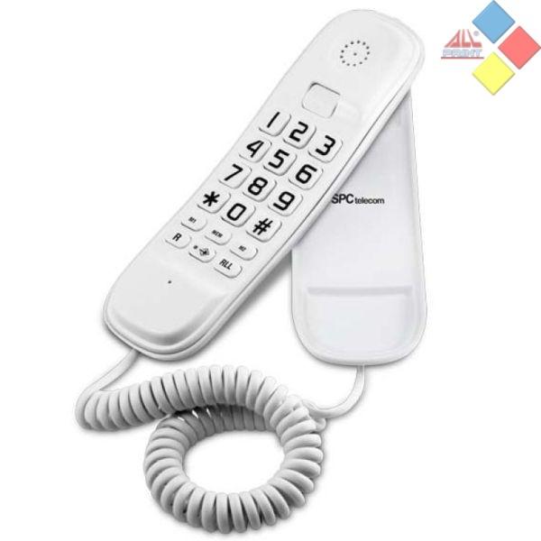TELÉFONO DE SOBREMESA O PARED SPC TELECOM 3601 BLANCO TECLAS GRANDES / MEMORIAS