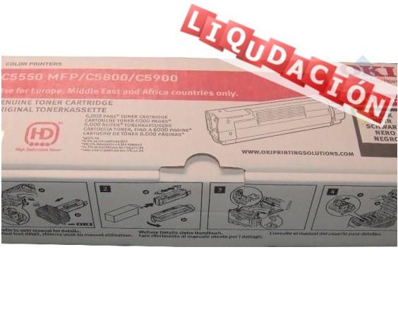 TONER OKI LASER C5800/C5900/MFP5550 NEGRO 6000 PAG  ***LIQUIDACION***