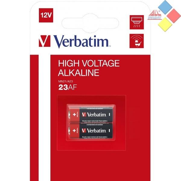 VERBATIM - PILA ALCALINA CONTROL REMOTO A23/LR23A/GP23A  12V - BLISTER 2 UNID.
