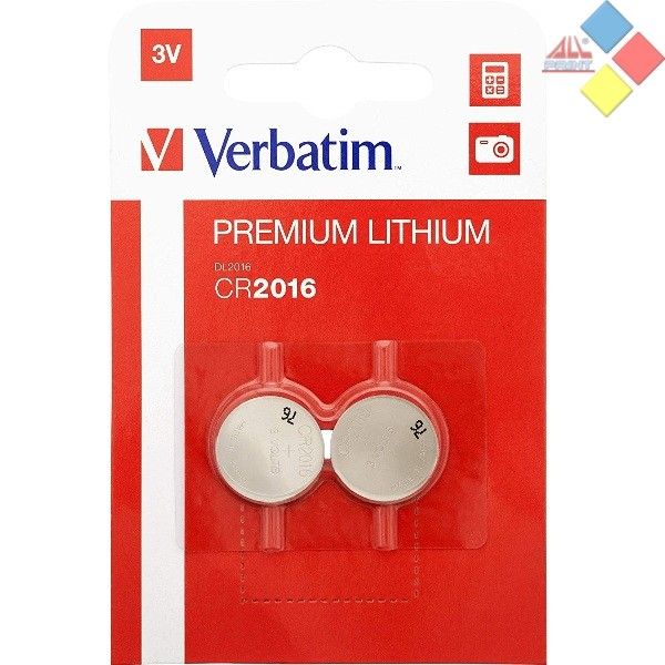 VERBATIM - Pila boton LITHIUM CR2016/DL2016/5000LC/E-CR2016 - 3V - Blister 2 unid
